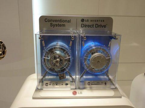 На фото – макет стиральной машины с прямым приводом
