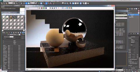 Процесс визуализации простейшей сцены
