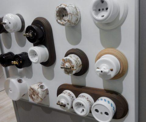 Ретро розетки и выключатели могут быть настоящими произведениями искусства