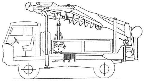 Схема крано-буровой установки «BOSHUNG DELPHI S-111»