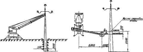 Схема установки опоры освещения