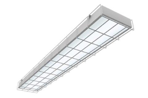 Для спортзалов светильники должны быть в металлической решетке
