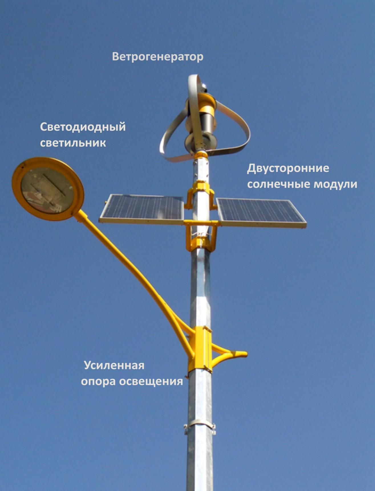 Схема уличного солнечного фонарика