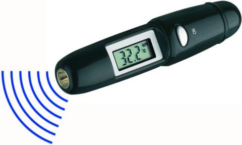 На фото - оптический термометр