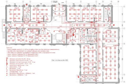 План освещения торговых залов