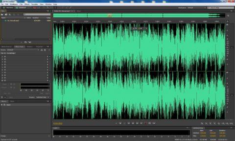 Работа со звуком в программе Adobe Audition