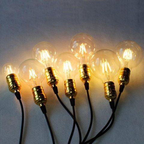 Свечение ламп накаливания