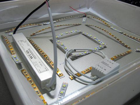Светодиодный светильник может быть любой формы