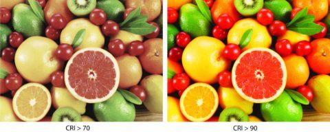 Влияние коэффициента цветопередачи на внешний вид объектов
