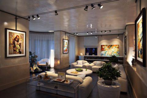 Зональное освещение комнаты