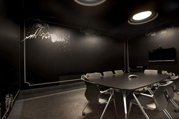 Темная отделка комнаты резко уменьшит ее освещенность при неизменной светимости