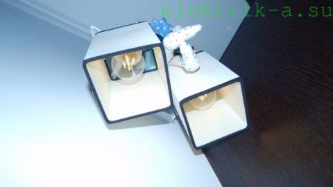 Настенный светильник с filament-лампами
