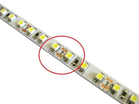 По той же причине низковольтная лента может нарезаться отрезками по три светодиода
