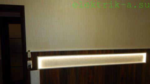 Подсветка ниши в спальне led-лентой на светодиодах smd 3528