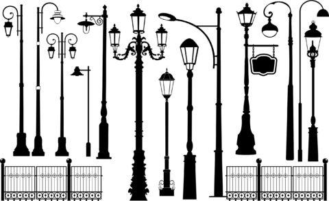 Столбы освещения для дачи