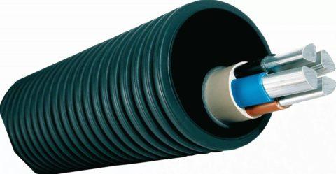 Гофра для кабеля, предназначенная для укладки в грунт