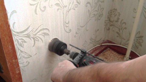 Использование насадки для бетона при монтаже