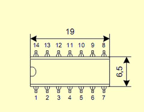 Цоколевка микросхемы К561ТМ2
