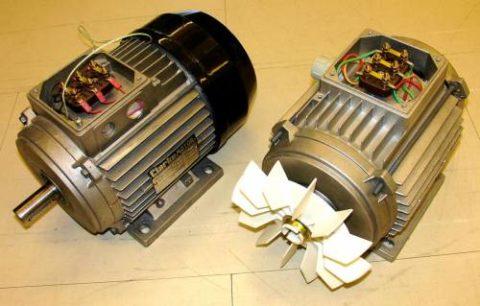 Классический вид электродвигателя переменного тока – его строение мы разберем позже