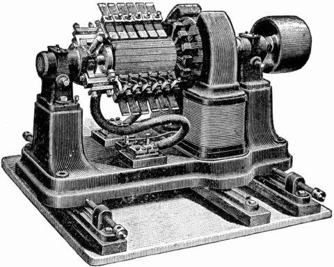 Старинная динамо-машина