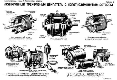 Строение асинхронного двигателя переменного тока