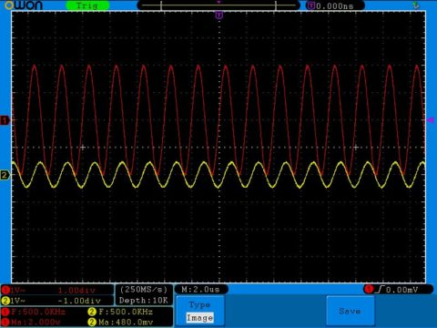 Частота в 500 кГц