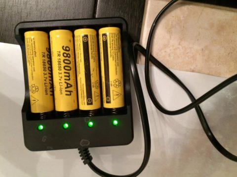 Процесс зарядки аккумуляторных батарей