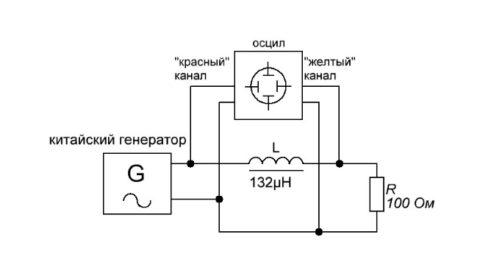 Схема включения катушки индуктивности в цепь переменного тока