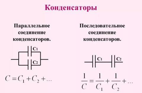 Соединения конденсаторов в цепях переменного тока: расчет емкости при последовательном и параллельном подключении