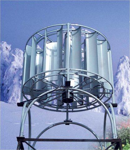 Ветрогенератор вертикальный 10 квт многолопастной