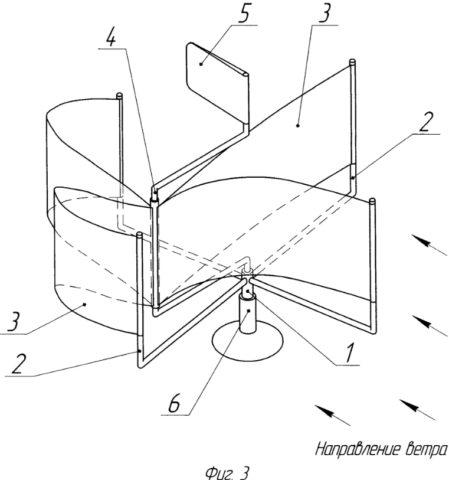Ветрогенераторы вертикально-осевые парусные