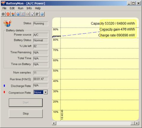 Программа для тестирования состояния аккумулятора BatteryMon