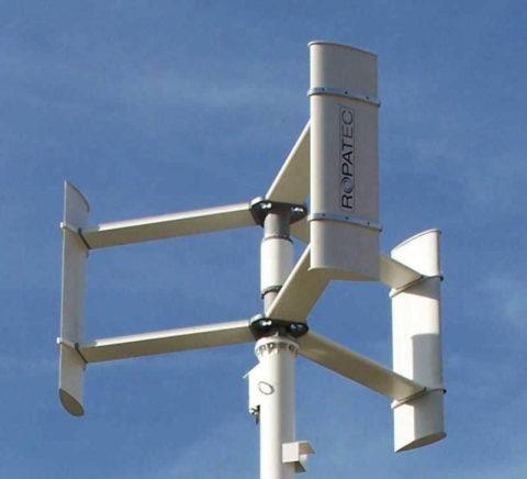 Ротор Дарье на ветрогенераторе