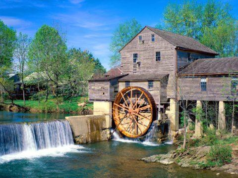Самый старый из известных водяных двигателей