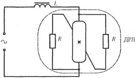 Схема включения четырехэлектродной лампы