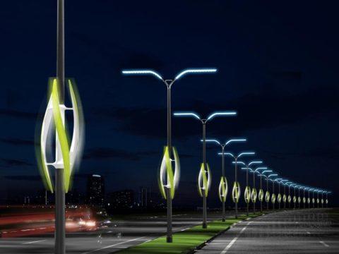 Фонари, освещающие дорогу