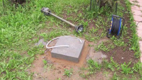 Фундамент для установки фонаря