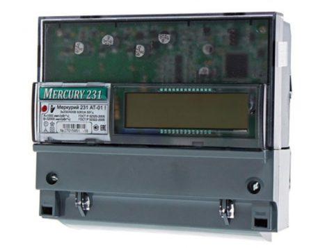 Модель электросчетчика Меркурий 231 АТ