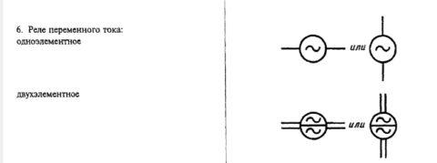 Схематическое изображение реле переменного тока