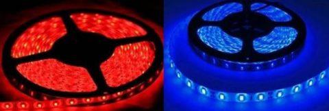 Два вида светодиодных лент для изготовления источника света для цветов
