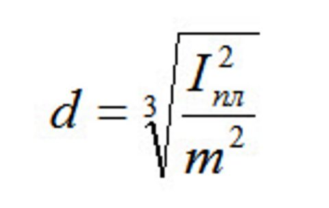 Формула расчета диаметра провода