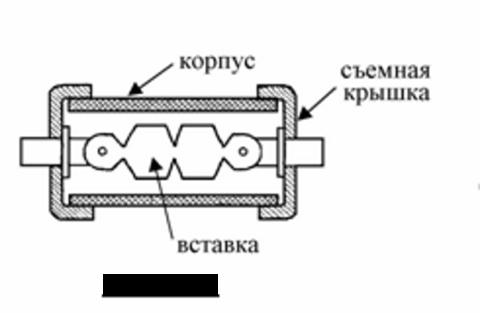 Конструкция предохранителя со съемной плавкой вставкой