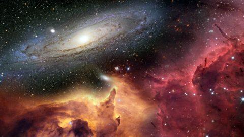 На фото – изображение вселенной: космос наполнен плазмой