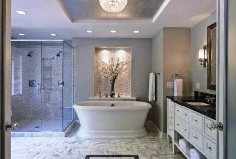 Подсветка отдельных элементов ванной комнаты