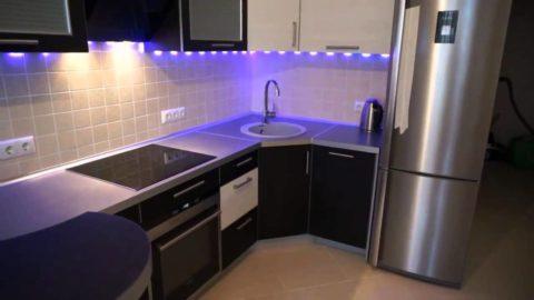 Равномерность освещения рабочей зоны кухни