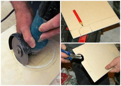 Режем отверстия в керамической плитке