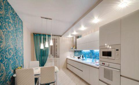 Варианты общего освещения кухни