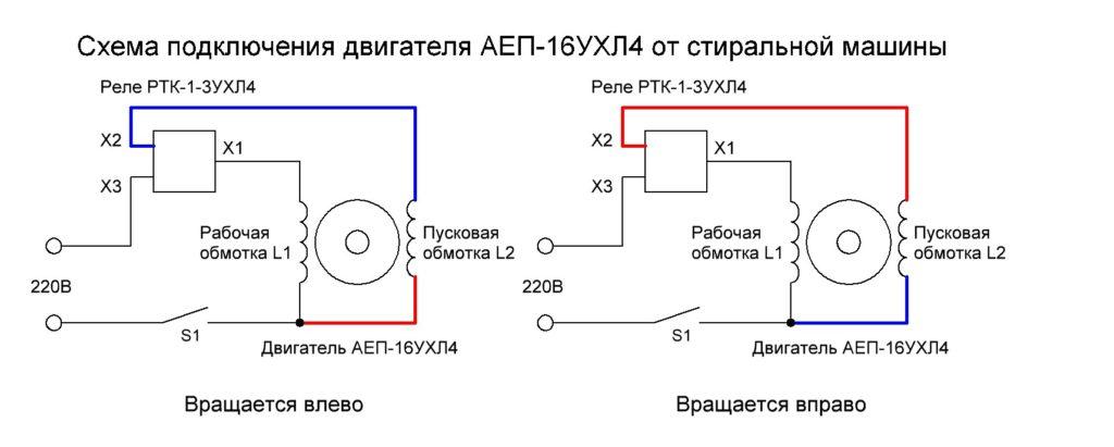 Коллекторный однофазный двигатель переменного тока от стиральной машины