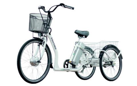 Грузовой трехколесный велосипед с электроприводом