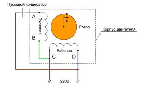 Как подключается коллекторный однофазный электродвигатель переменного тока